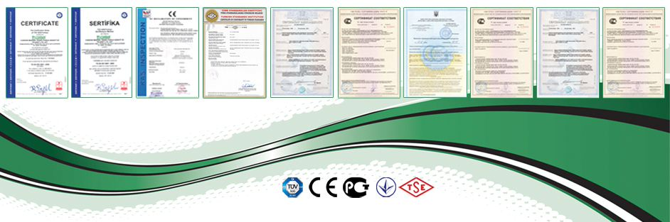 CERTIFICATE OF CANDAN MAKINA CO.